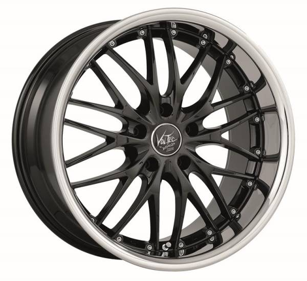 BARRACUDA BARRACUDA VOLTEC T6 Higloss black inox lip Felge 8x18 - 18 Zoll 5x112 Lochkreis