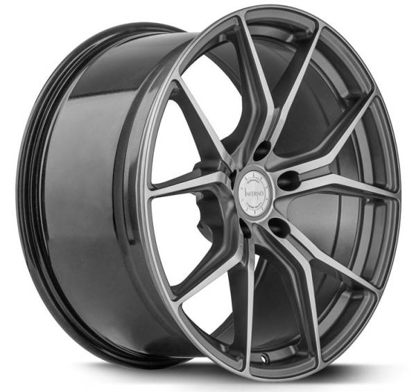 BARRACUDA INFERNO Higloss-Gunmetal-Polished Felge 10x20 - 20 Zoll 5x120 Lochkreis