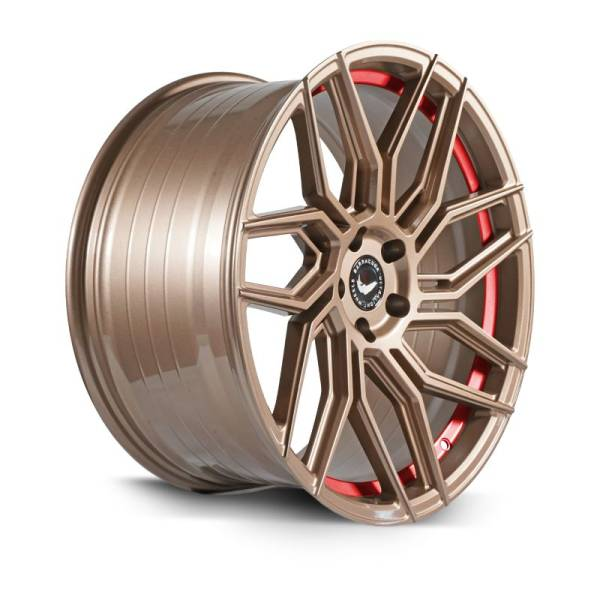 BARRACUDA DRAGOON Higloss-Bronze undercut Trimline red Felge 8,5x20 - 20 Zoll 5x110 Lochkreis