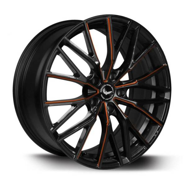 BARRACUDA PROJECT 3.0 Black gloss Flashorange Felge 10x20 - 20 Zoll 5x110 Lochkreis