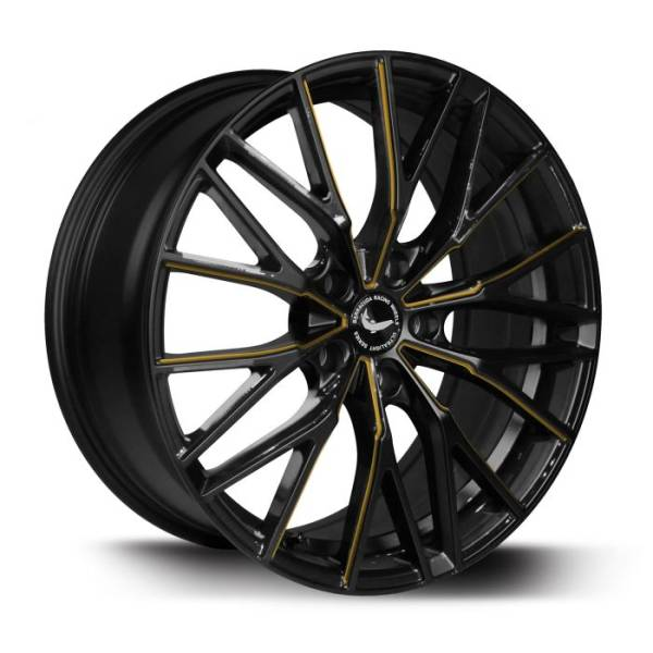 BARRACUDA PROJECT 3.0 Black gloss Flashgold Felge 8,5x19 - 19 Zoll 5x108 Lochkreis