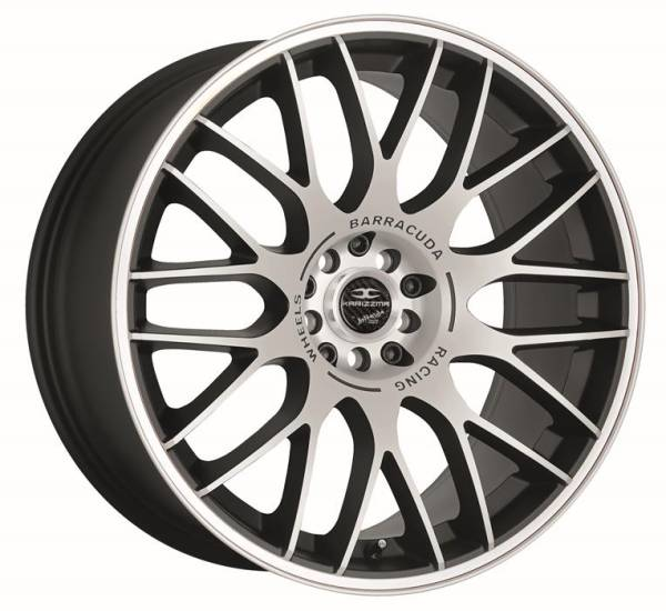 BARRACUDA KARIZZMA Mattblack-Polished / Color Trim weiss Felge 8,5x19 - 19 Zoll 5x108 Lochkreis