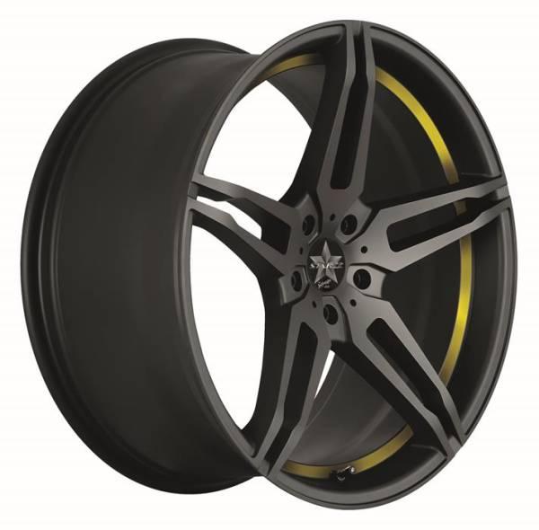 BARRACUDA STARZZ Mattblack Puresports / undercut Color Trim gelb Felge 8x18 - 18 Zoll 5x112 Lochkrei