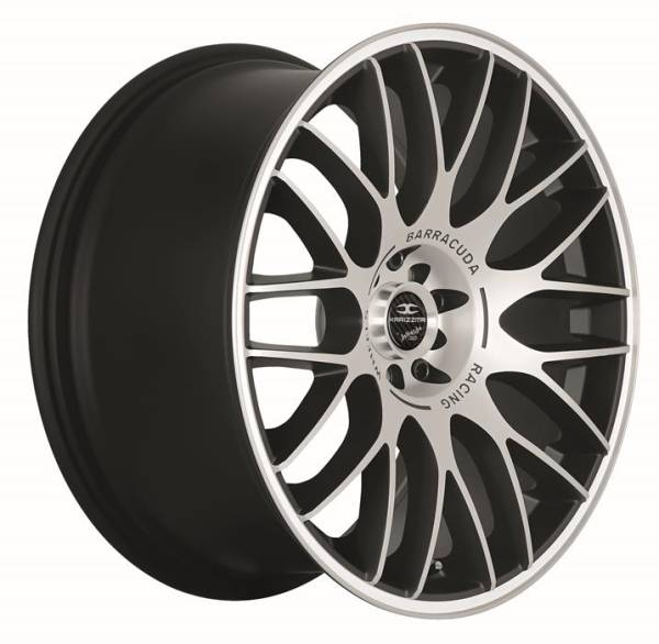 BARRACUDA KARIZZMA Mattblack-Polished / Color Trim weiss Felge 8x18 - 18 Zoll 4x100 Lochkreis