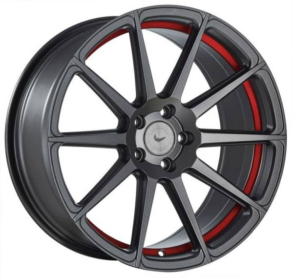 BARRACUDA PROJECT 2.0 Mattgunmetal/ undercut Colour Trim rot Felge 10,5x20 - 20 Zoll 5x120 Lochkreis