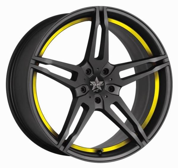 BARRACUDA STARZZ PureSports / undercut Color Trim gelb Felge 8,5x19 - 19 Zoll 5x112 Lochkreis