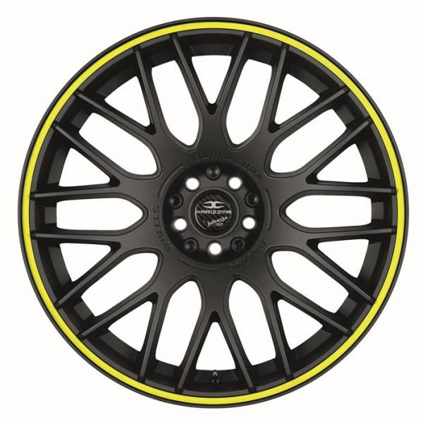 BARRACUDA KARIZZMA PureSports / Color Trim gelb Felge 9,5x19 - 19 Zoll 5x110 Lochkreis