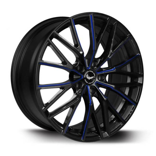BARRACUDA PROJECT 3.0 Black gloss Flashblue Felge 8,5x20 - 20 Zoll 5x108 Lochkreis
