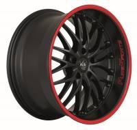 BARRACUDA VOLTEC T6 SUV Mattblack Puresports / Color Trim rot Felge 9x20 - 20 Zoll 5x120 Lochkreis