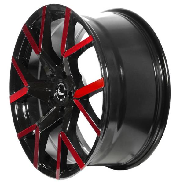 BARRACUDA TZUNAMEE EVO Black gloss Flashred Felge 8,5x19 - 19 Zoll 5x112 Lochkreis